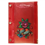 Ed Hardy Edie Eternal Love 3D Pencil Pouch - Red