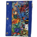 Ed Hardy Edie All Over 3D Pencil Pouch - Blue