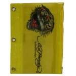Ed Hardy Edie Tiger 3D Pencil Pouch - Yellow