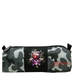 Ed Hardy Jude Love Kills Slowly Small Pencil Case - Grey Camo