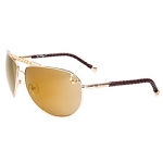 True Religion Jesse Aviator Sunglasses - Gold