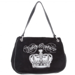 Juicy Couture Crown New Fluffy Handbag-Black