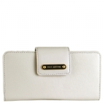 Juicy Couture Leather Continental Clutch Wallet-White